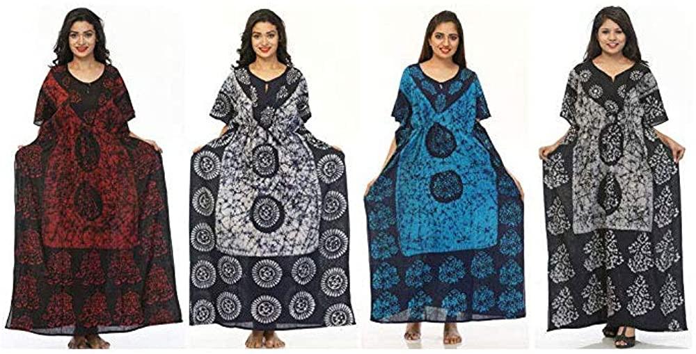 Odishabazaar 10PC Boho Kaftan Lounge Wear Batik Printed Cotton Caftan Kaftan Wholesale Lot