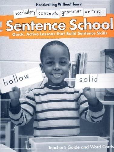 Sentence School (Handwriting Without Tears) (Kindergarten)