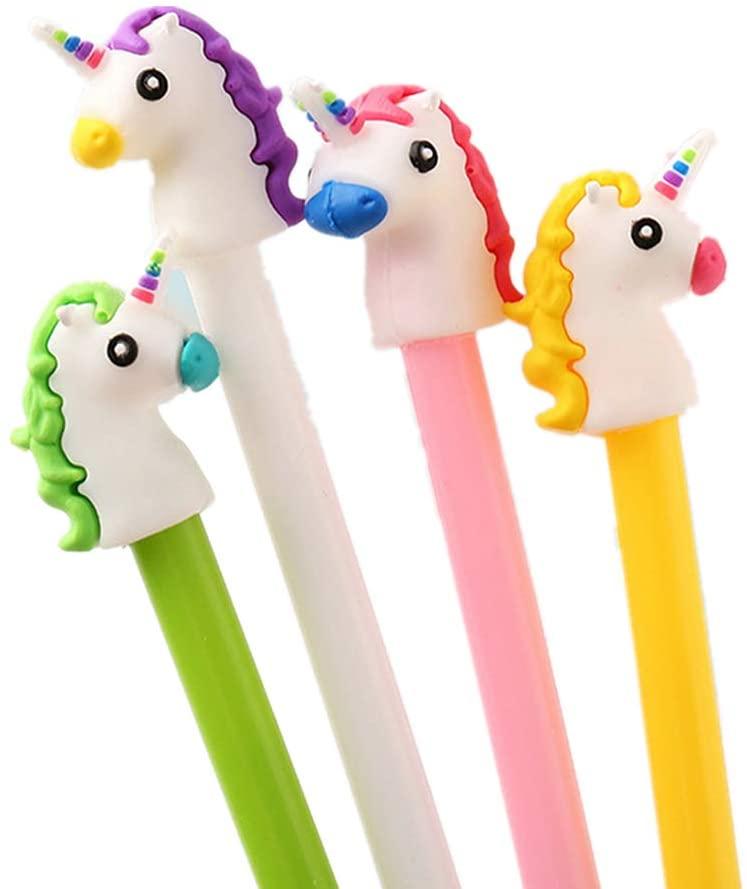 WIN-MARKET Gel Pens Set Fashion Cute Colorful Kawaii Lovely Donkey Gel Ball Pens Office School Pens Stationery (8PCS)