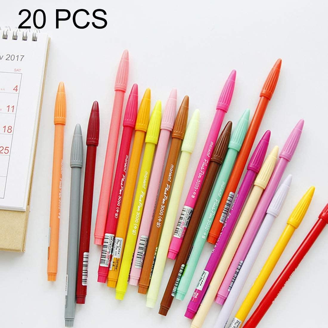 AEIOU Sy20 PCS Color Gel Pen Ink Roller Marker Pen, Tip Size: 0.5mm, Random Ink Color Delivery Stationery