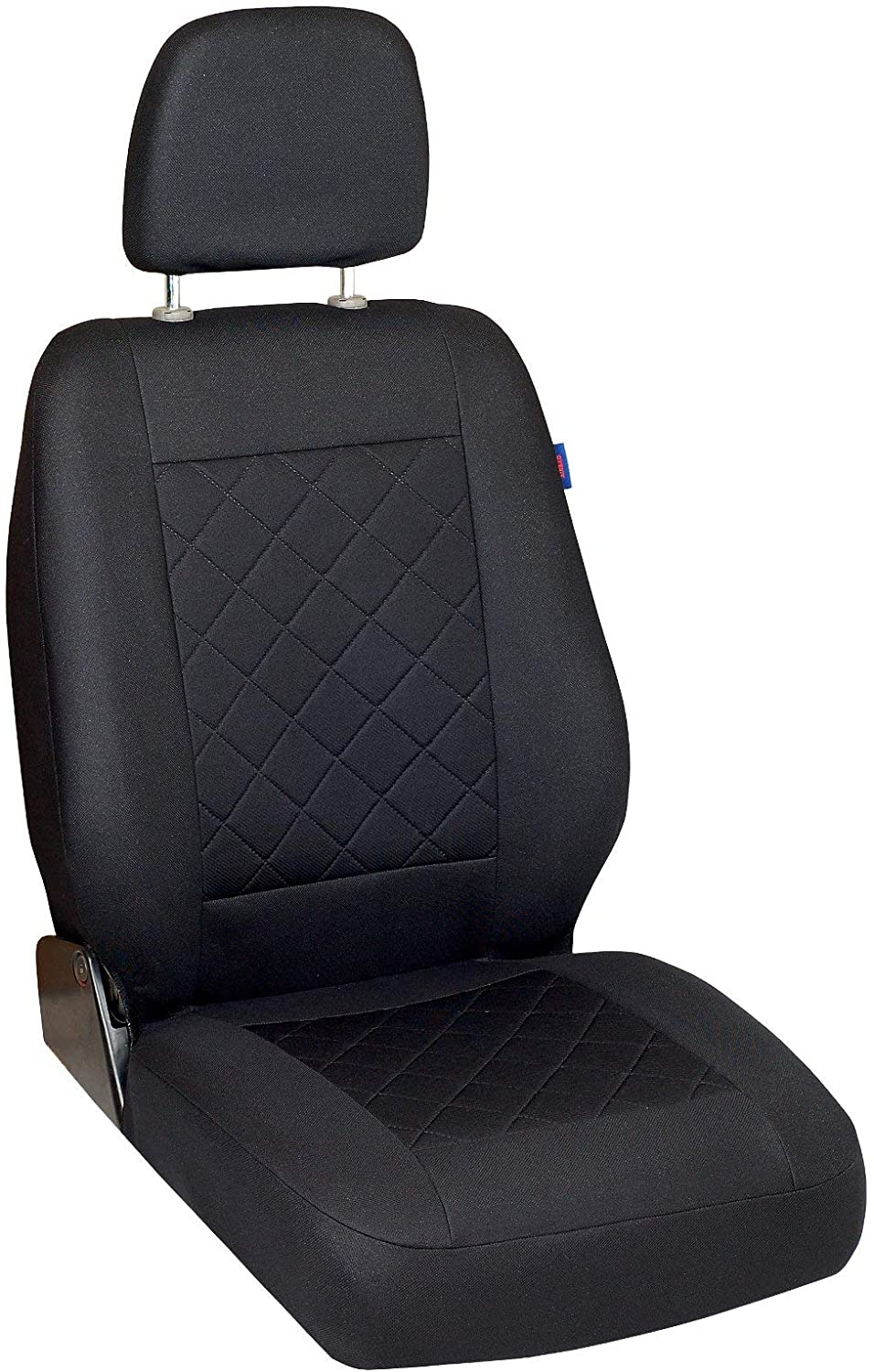 Zakschneider Car seat Cover for Mitsubishi Space Gear - Driver Seat - Color Premium Black Quilted Squares