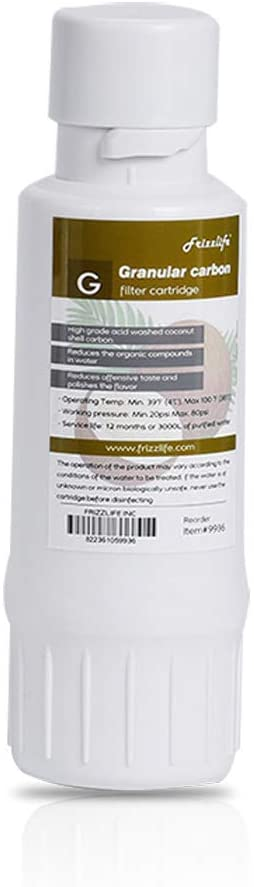 FRIZZLIFE W4004 (#9936) Replacement Filter Cartridge (G) - Post Carbon Block Filter - 4th Stage for WA99 RO Filter System