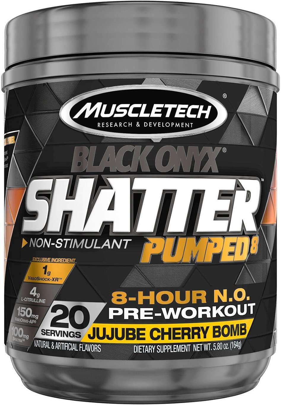 MuscleTech Shatter Pumped 8 Black Onyx - JuJube Cherry Bomb