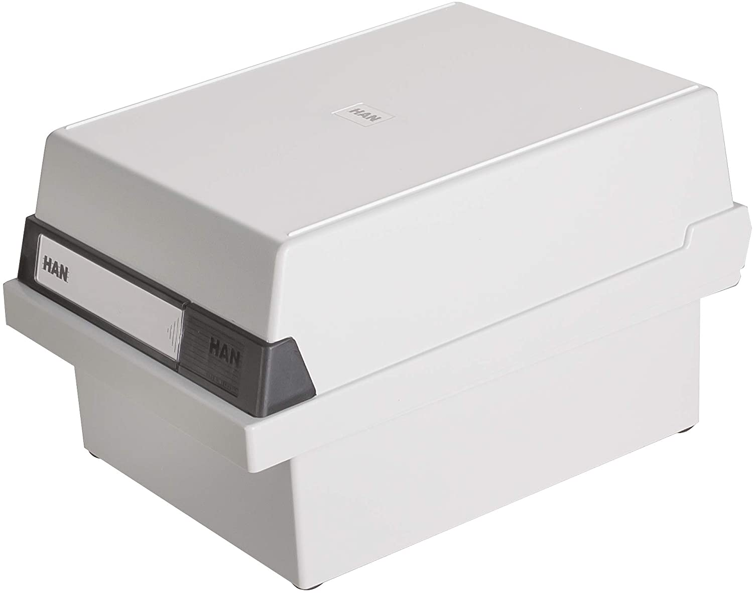 Han 966-11 Card Index Box for 800 Index Cards A6 Plastic Light Grey
