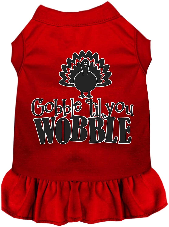Mirage Pet Product Gobble til You Wobble Screen Print Dog Dress Red XXXL