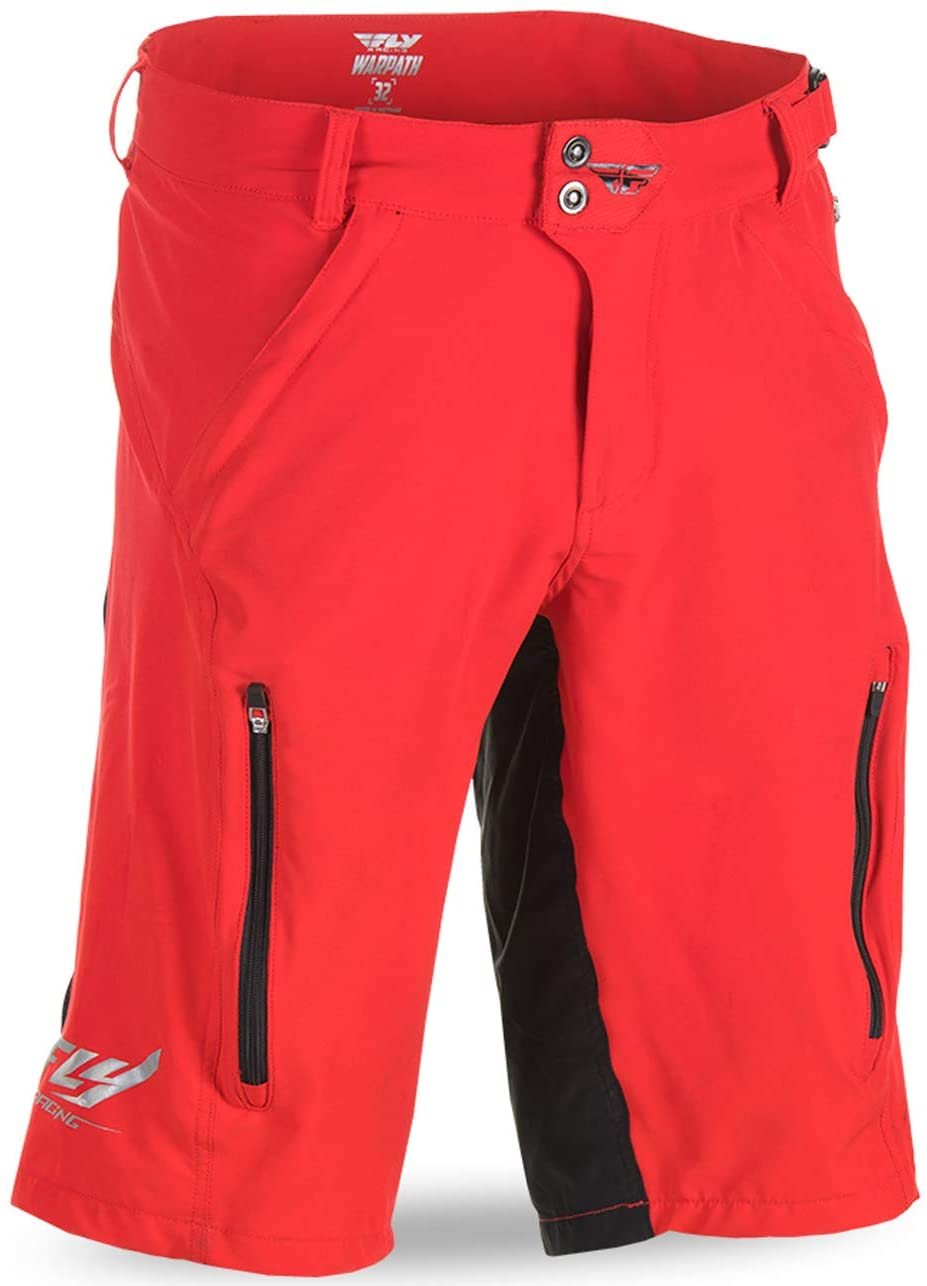 Fly Racing Unisex-Adult Warpath Shorts (Red/Black, Size 28)