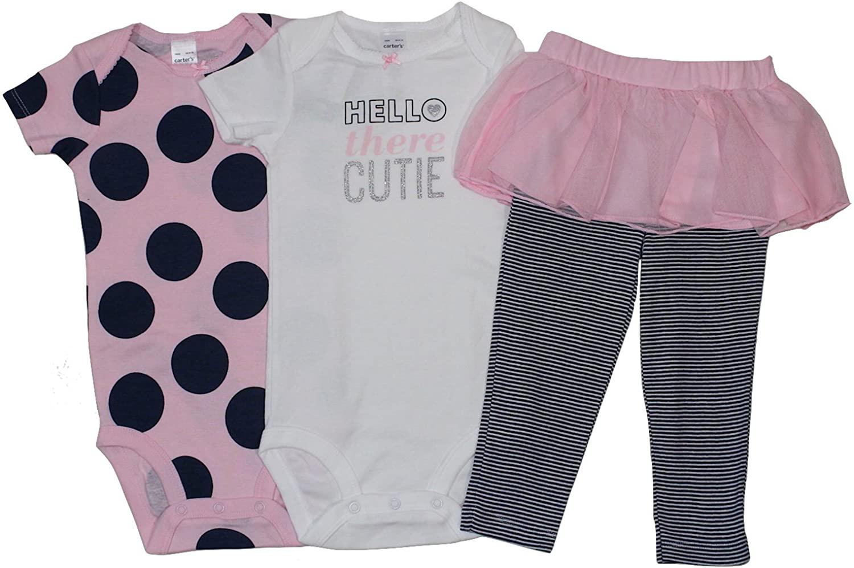 Carter's Baby Girls Hello There Cutie 3 Piece Set Bodysuit & Tutu Leggings