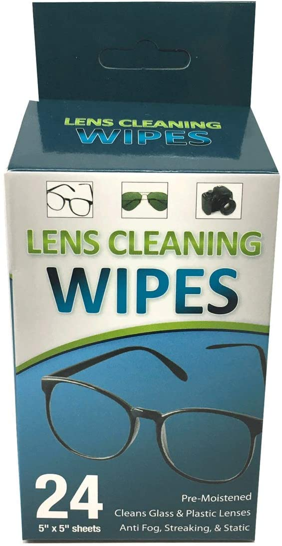 Lens Cleaning Wipes for Glasses, Cameras & All Optical Devices (24 Wipes)