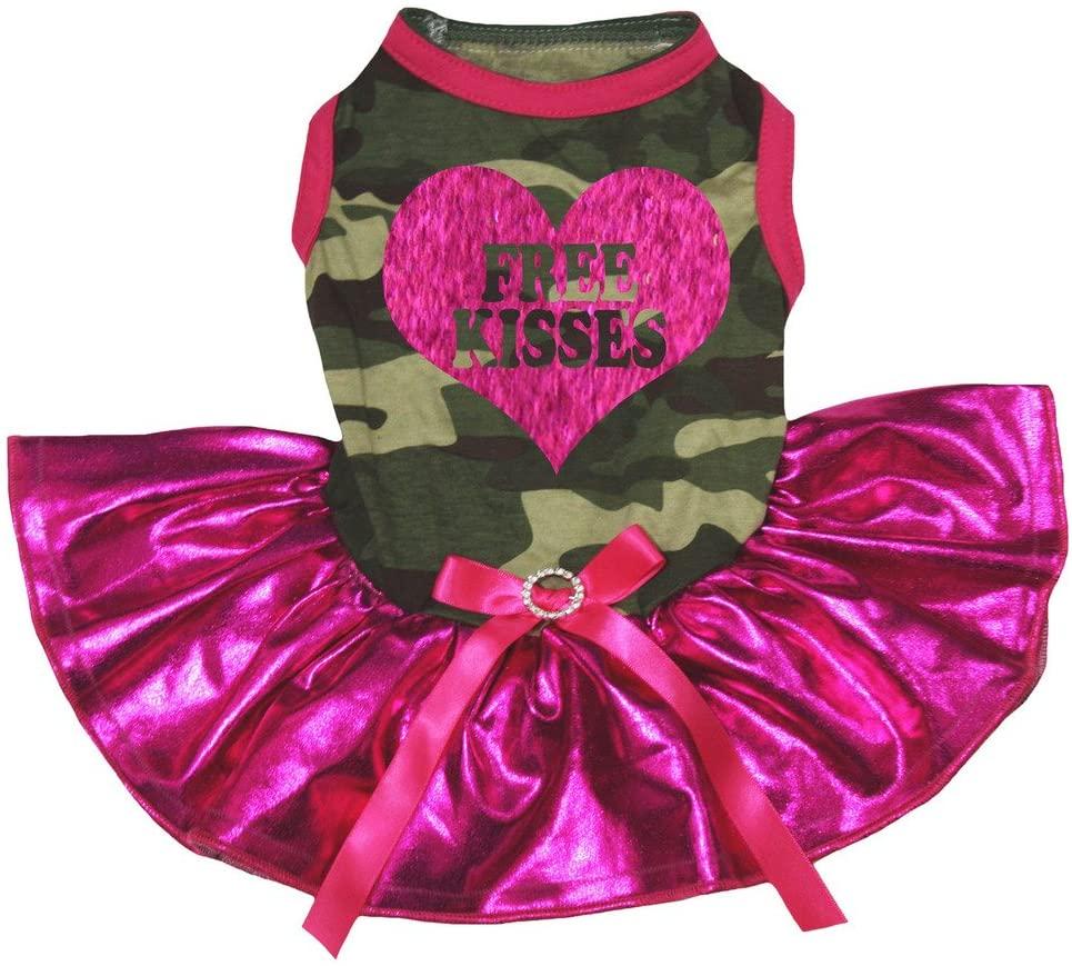 Petitebella 'Free Kisses' Heart Puppy Dog Dress