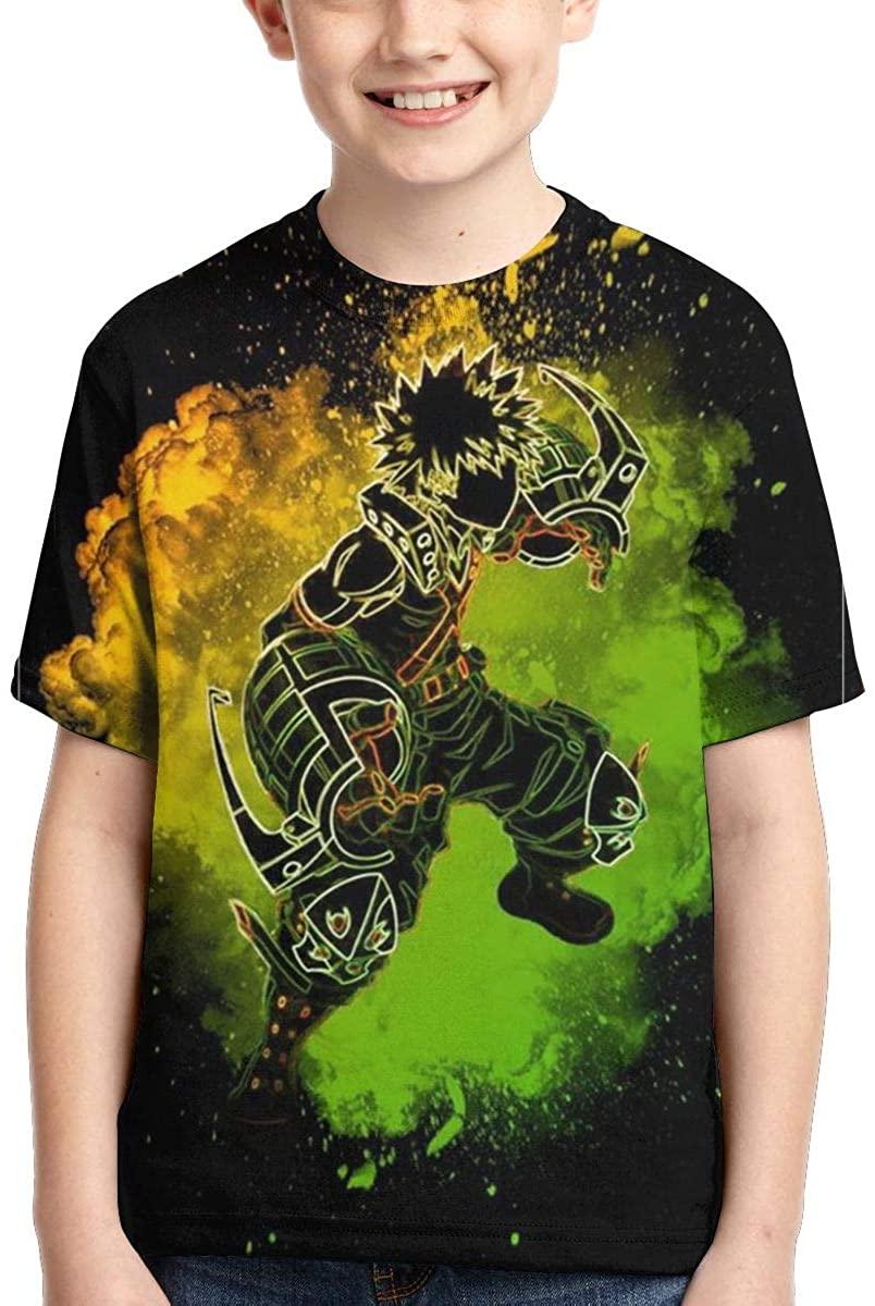 AP.Room Teens Short Sleeve T-Shirt My Hero Academia Elegant and Minimalist Design Black