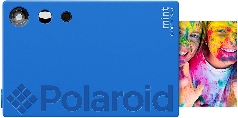 Zink Polaroid Mint Instant Print Digital Camera (Blue), Prints on Zink 2x3 Sticky-Backed Photo Paper