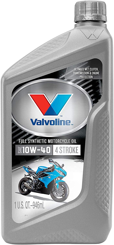 Valvoline 4-Stroke Motorcycle Full Synthetic SAE 10W-40 Motor Oil 1 QT