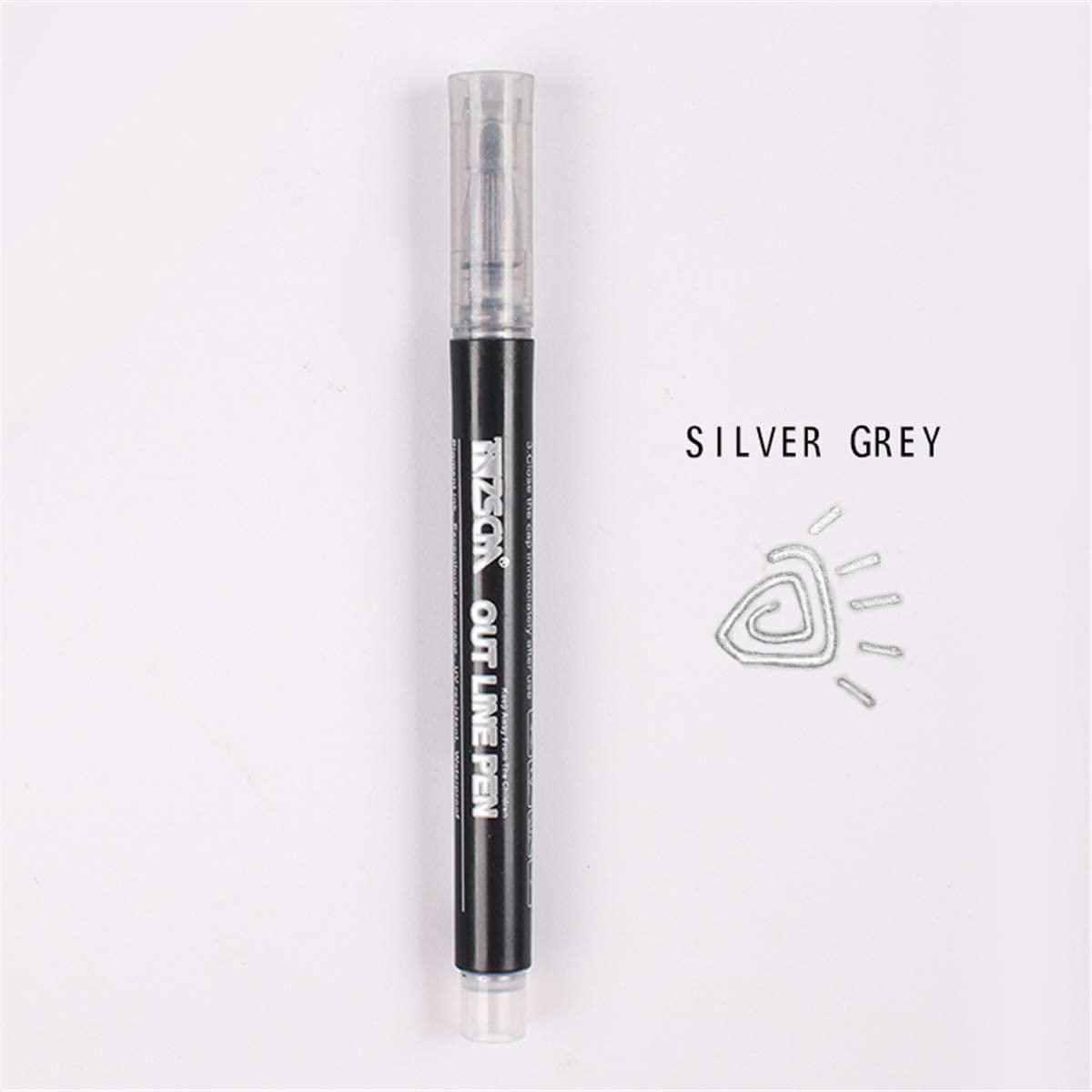 minansostey Double Lines Art Markers Pen Out Line Pen Scrapbooking Pens Fine Liner Marker Fineliner Calligraphy Lettering Pen Color
