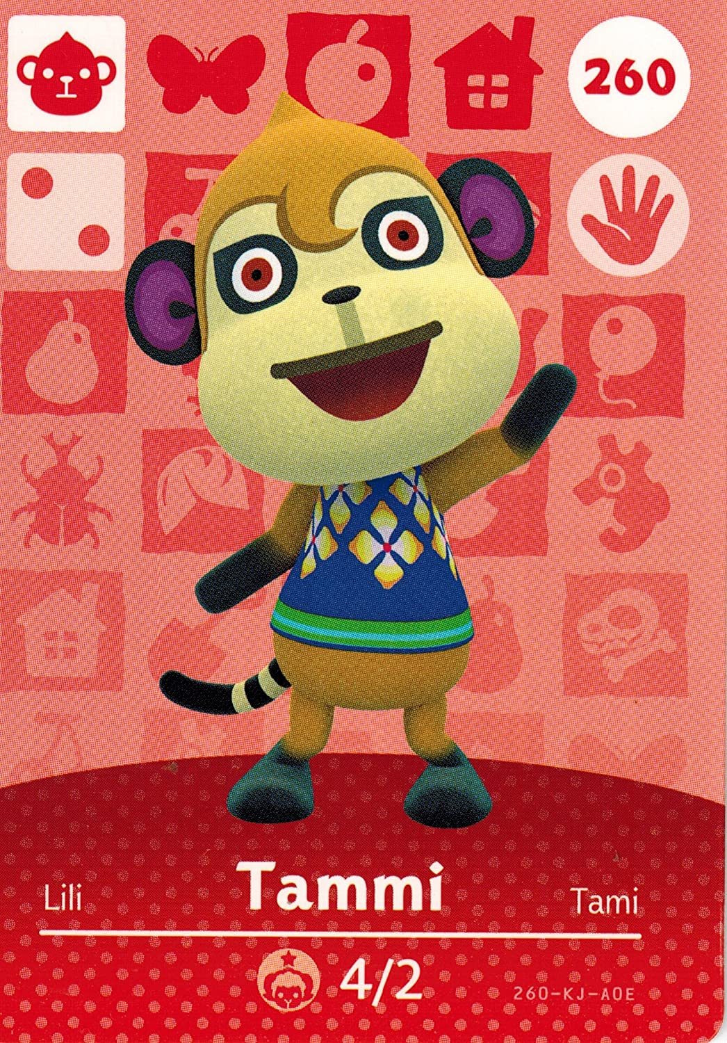 Nintendo Animal Crossing Happy Home Designer Amiibo Card Tammi 260/300 USA Version