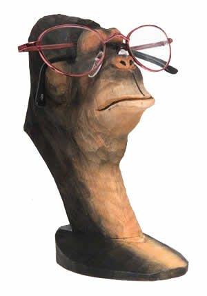 Gorilla Peeper - Wood Eyeglass And Business Card Holder