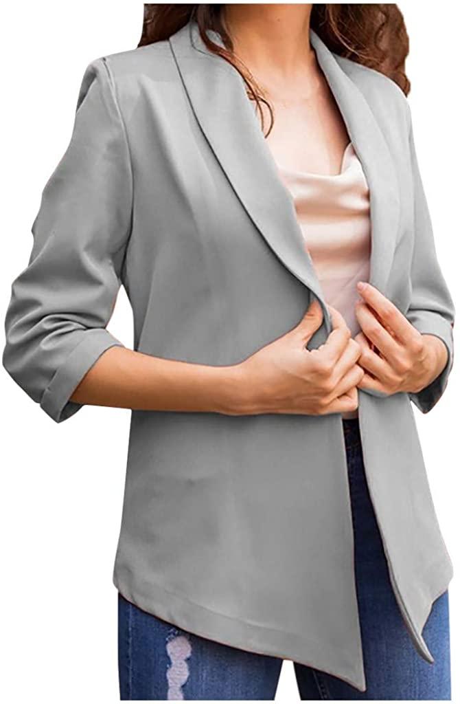 LEKODE Jacket Women's Solid Lapel Thin Suit