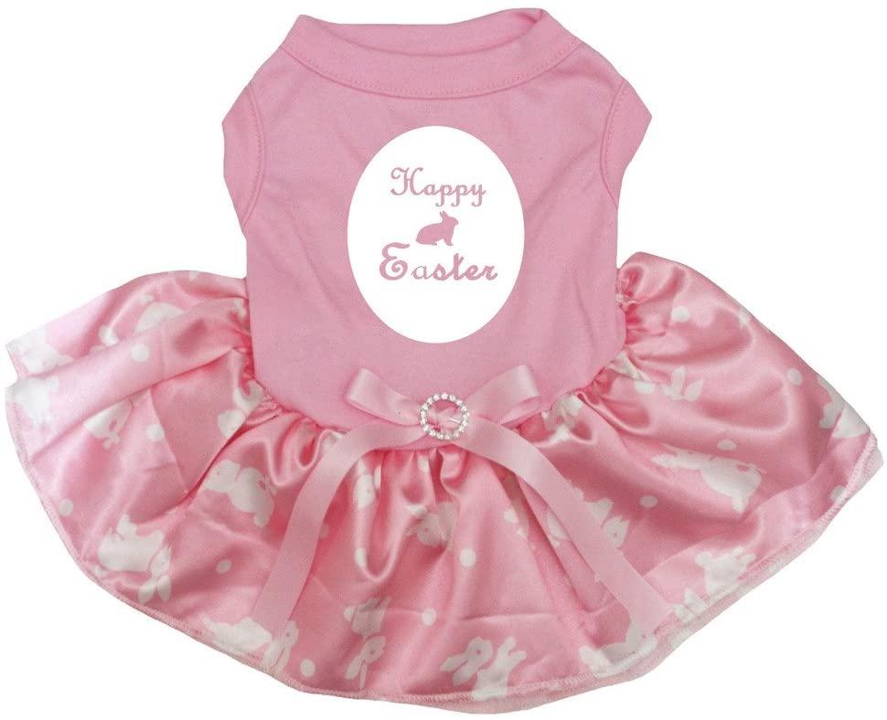 Petitebella Happy Easter Bunny Egg Puppy Dog Dress