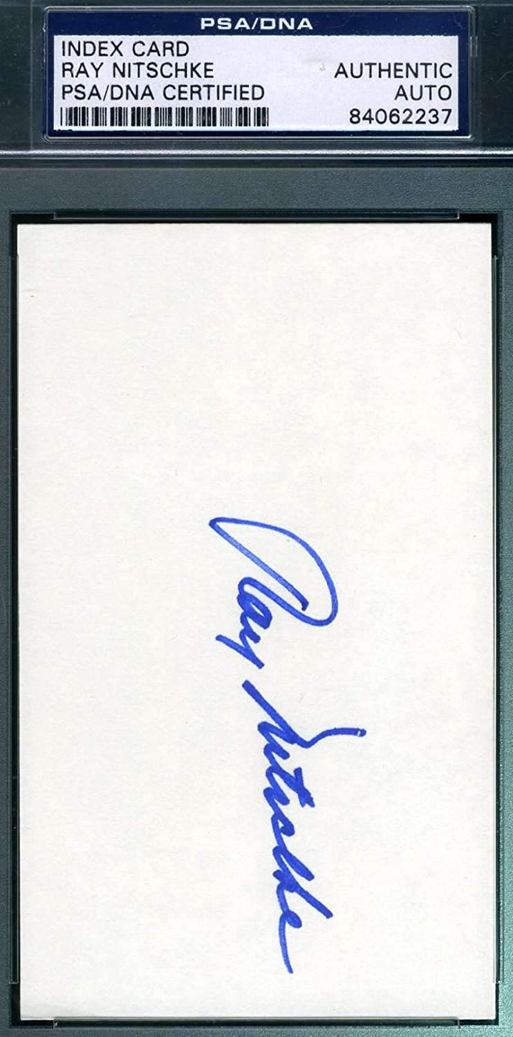 RAY NITSCHKE PSA DNA Autograph 3X5 Index Card Signed