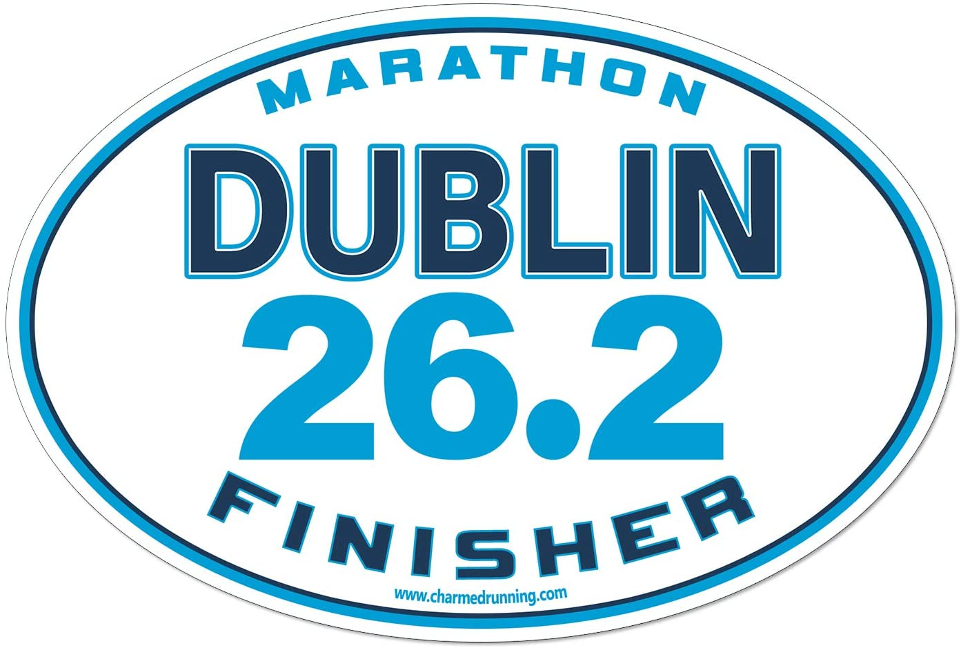 Charmed Running Dublin Marathon Finisher 26.2 Car Magnet