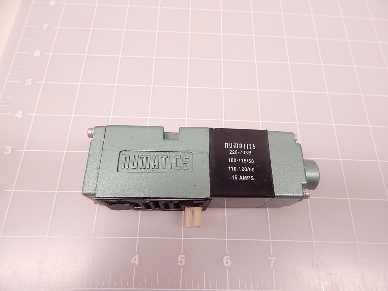 ASCO NUMATICS 228-703B 110/120V-60HZ, Solenoid Valve Coil.15AMP, 100/115V 50HZ