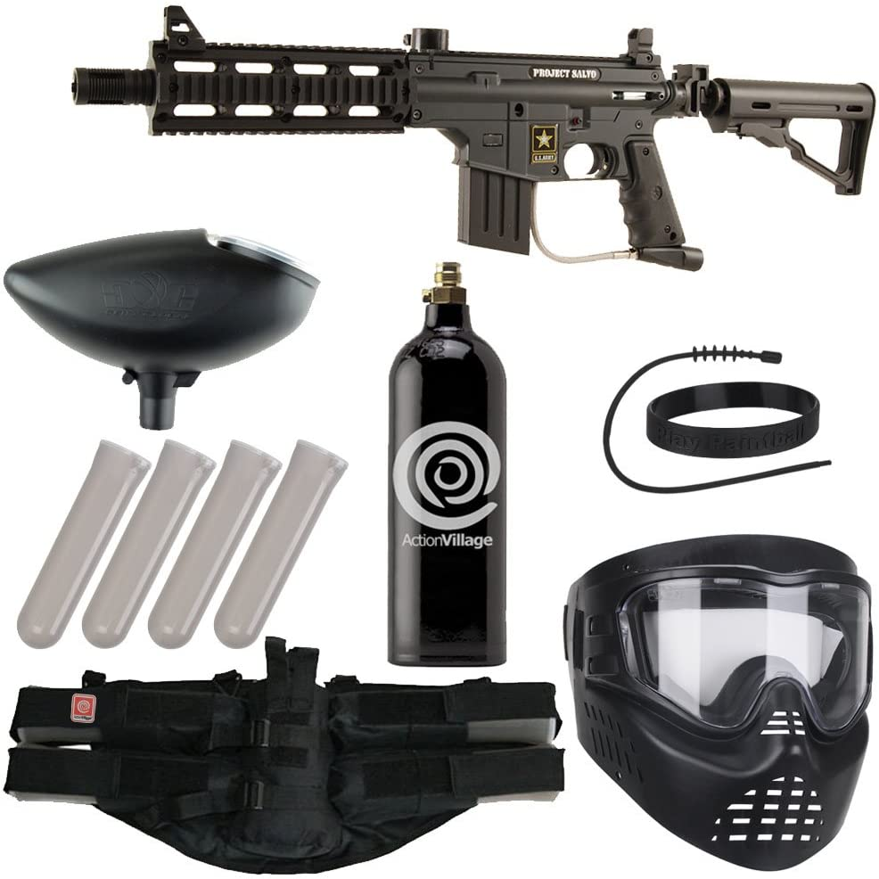 Action Village Tippmann Epic Paintball Gun Package Kit (US Army Project Salvo) (Black)