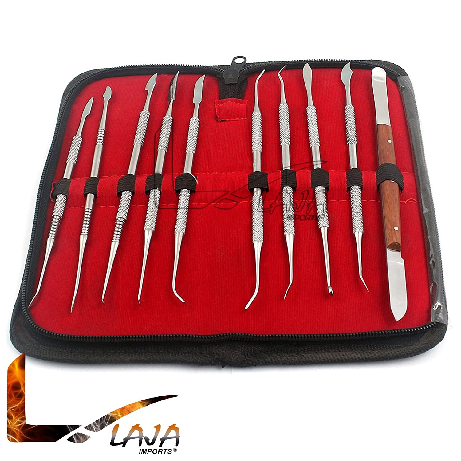 LAJA IMPORTS Stainless Steel Wax Carving Tool Set - Medic Dental Instrument KIT