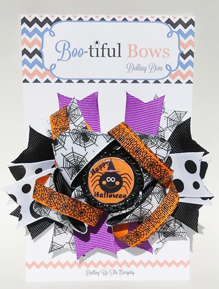 Bootiful Halloween Hair Bows- Boutique Halloween Hair Bow (Happy Hallowen)