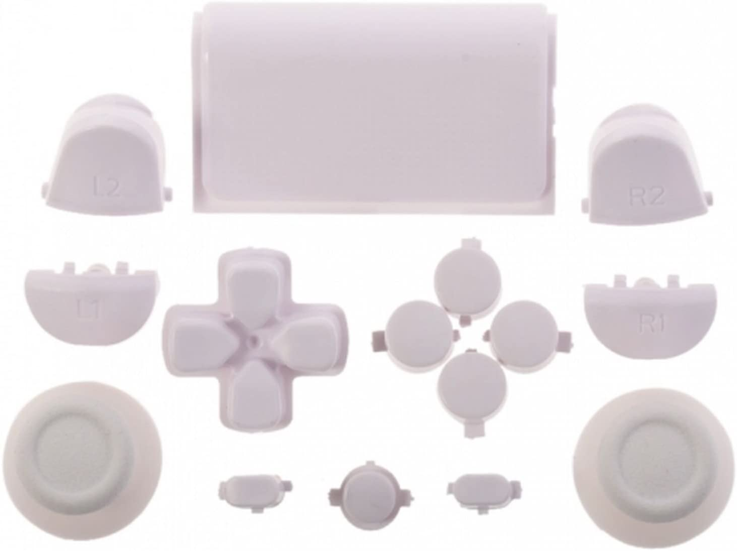 Replacement Full Buttons Custom Mod Kit Set for Sony Playstation 4 PS4 Controller (White)