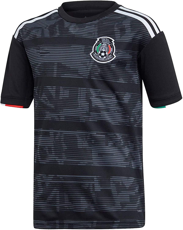 JIUdfgh 2019-2020 Mexico Jersey Home Mens Soccer Jerseys T-Shirts Black
