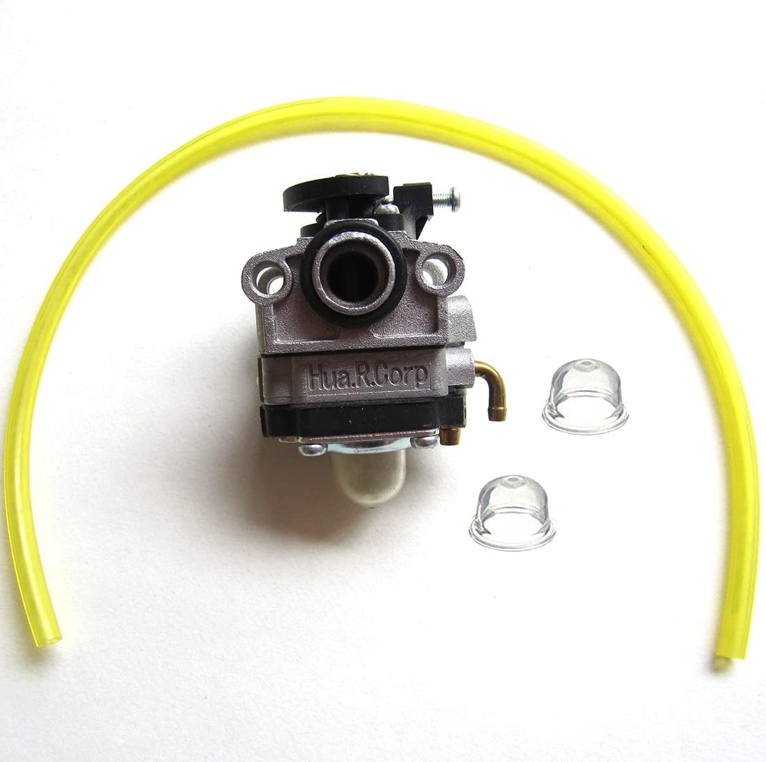 HQParts USA Shipping Carburetor with Primer Bulb Fuel Line for Shindaiwa LE230 PB230 TCX230 X230 C230 F230 T230X T230XR-EMC Trimmer 20016-81021 WYL-19