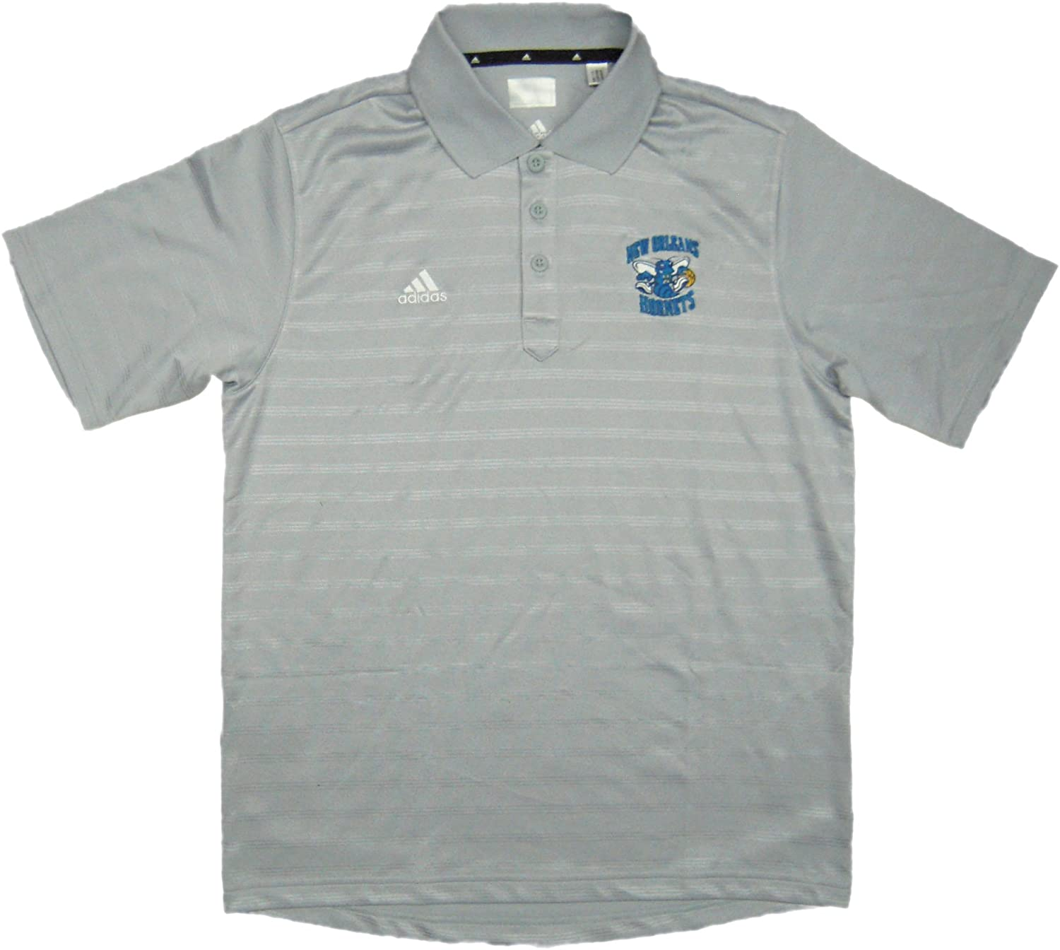 New Orleans Hornets Team Issued adidas Polo Shirt Size 3XL - Light Gray