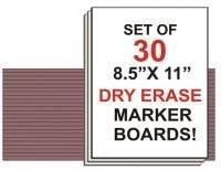 NEOPlex Student Laptop Dry Erase Marker Board - Set of 30