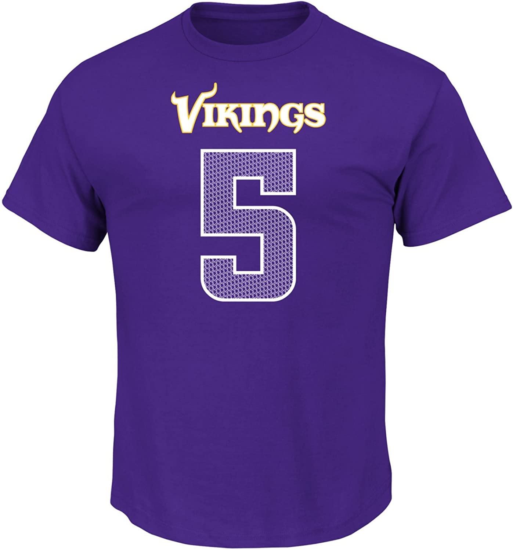 NFL Minnesota Vikings Teddy Bridgewater 5 Men's Athletic Coordinator Tee