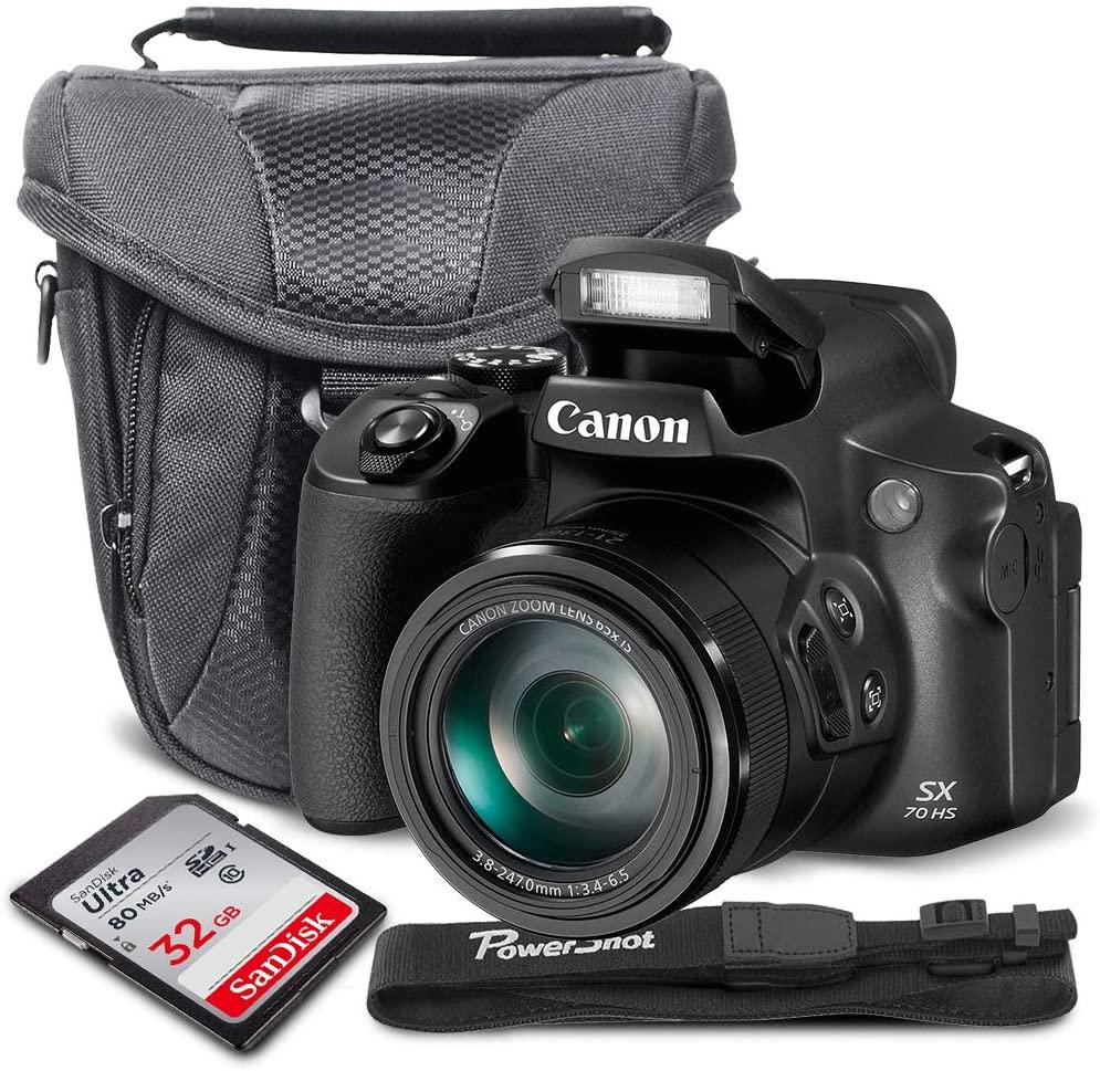 Canon PowerShot SX70 HS Digital Camera + 32GB + Cases + Basic Accessory Bundle