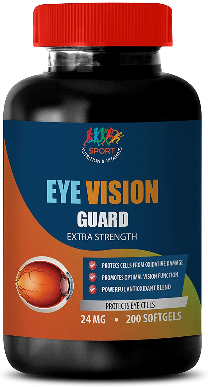 Vision Care Vitamins - Eye Vision Guard - Extra Strength - Protect Eye Cells - Lutein - 1 Bottle 200 Softgels