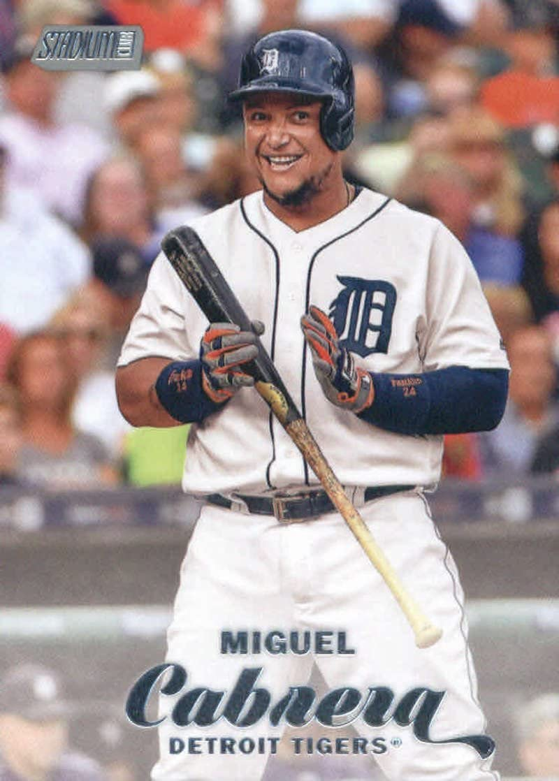 2017 Topps Stadium Club #140 Miguel Cabrera Detroit Tigers Baseball Card