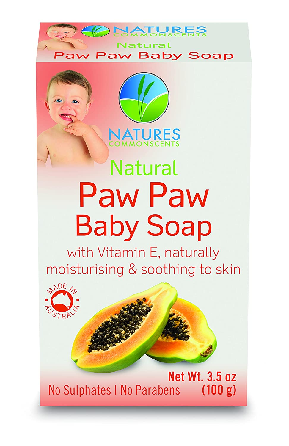 Natures Commonscents Natural Paw Paw Baby Soap Bar With Vitamin E