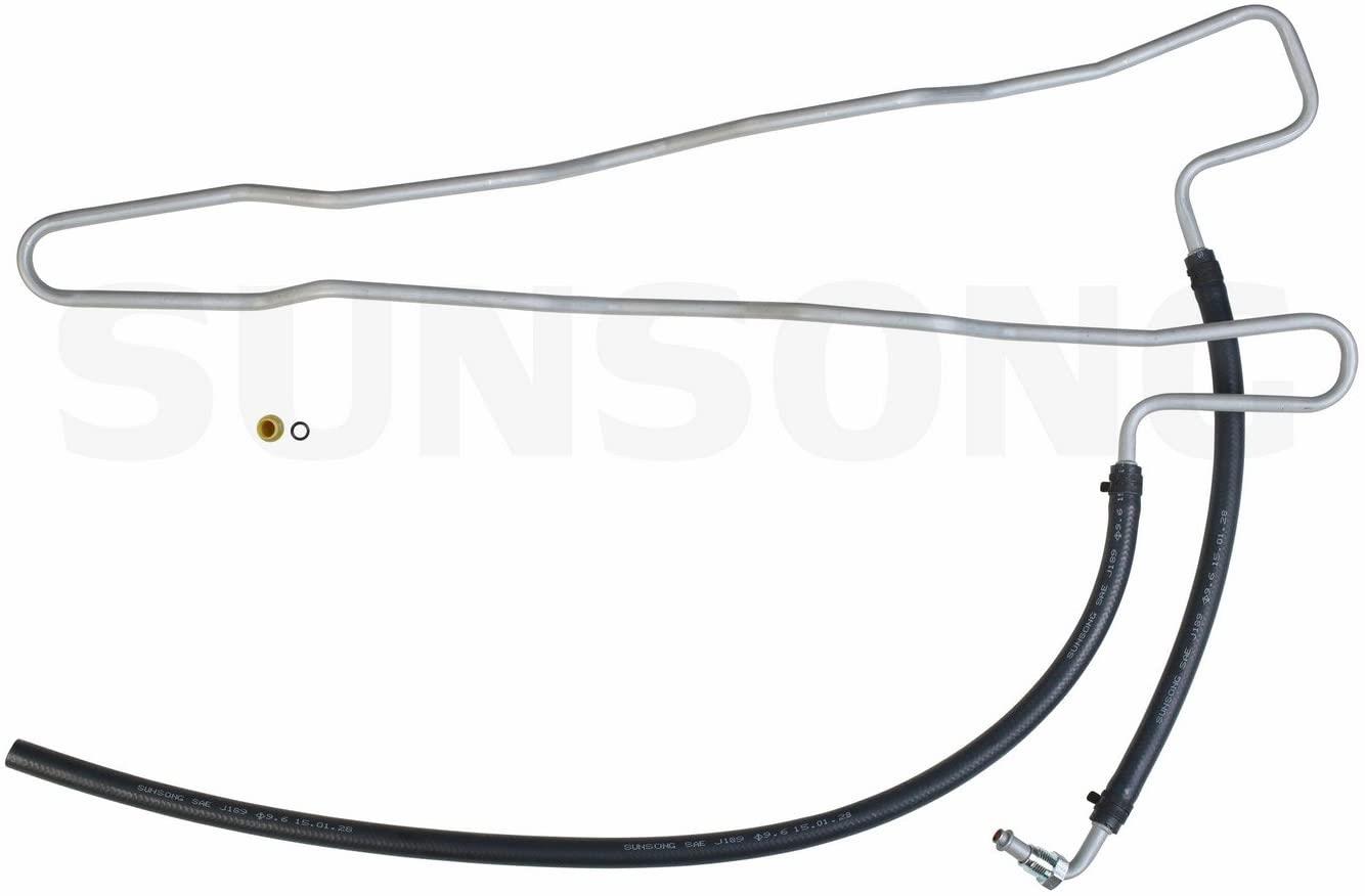 Sunsong 3402195 Power Steering Return Line Hose Assembly
