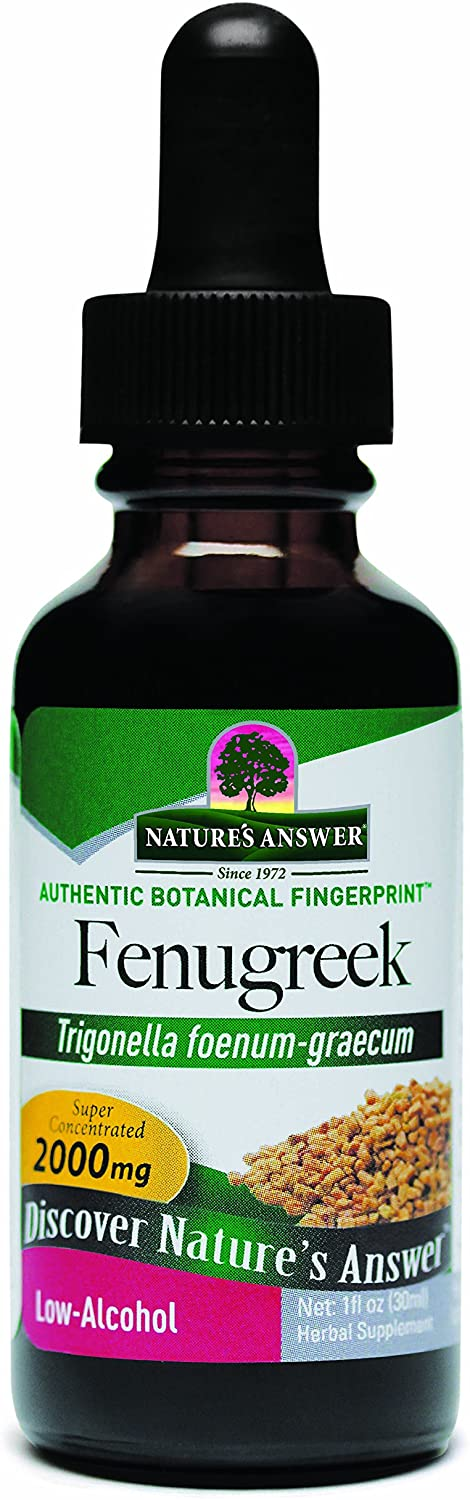 Natures Answer Fenugreek Seed with Organic Alcohol, 1-Fluid Ounce