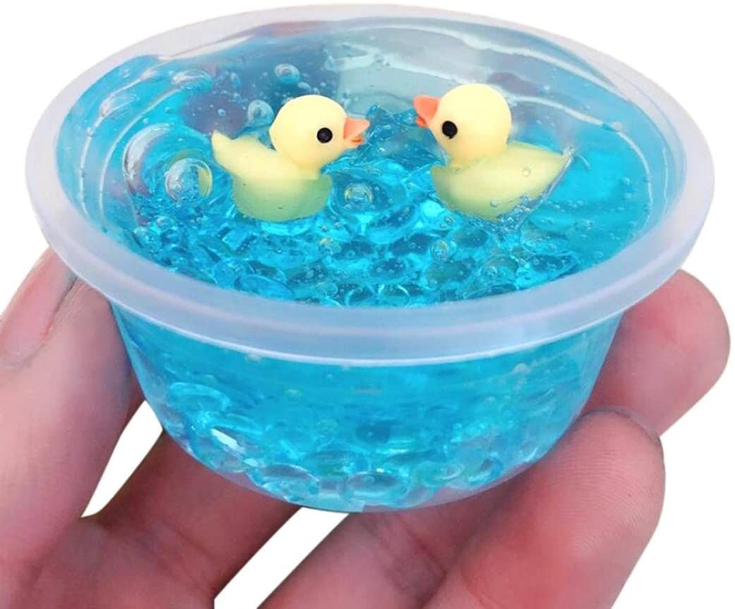 2019 Newest Duck Putty Crystal Slime Mud, E-Scenery Jumbo Fluffy Floam Slime Stress Relief Toy Scented Sludge Toy for Kids and Adults, Super Soft and Non-Sticky (60ml)