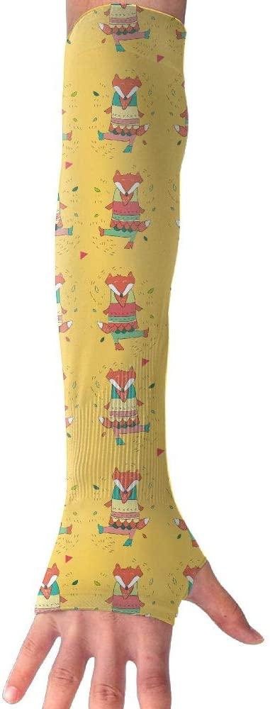 HXXUAN Happy Fox Gloves Anti-uv Sun Protection Arm Sleeve for Men and Women