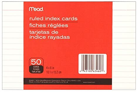 Mead 63460 Ruled Index Cards 50 Ct 4
