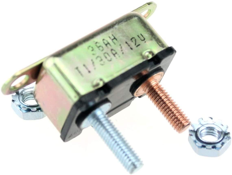 SHENLIJUAN 12V DC Battery Overcurrent Protector Automatic Reset Circuit Breaker 30A40A50A (Color : Green)