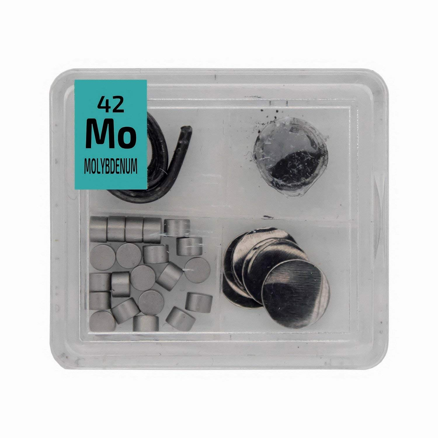 Molybdenum Metal Wire Powder Pellets Foil Quad Element Periodic Table Tile- High Purity