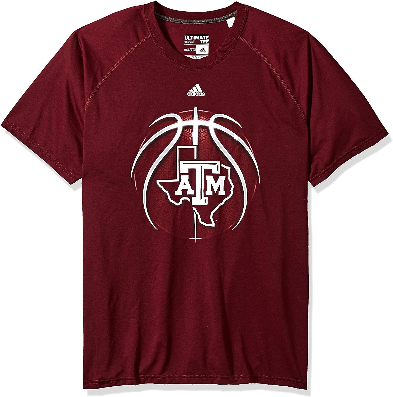 adidas NCAA Mens Light Ball Ultimate S/S Tee