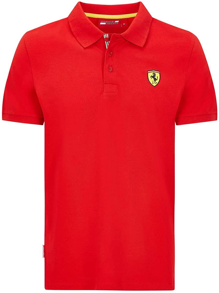 Ferrari Scuderia F1 Mens Classic Polo Black/Red