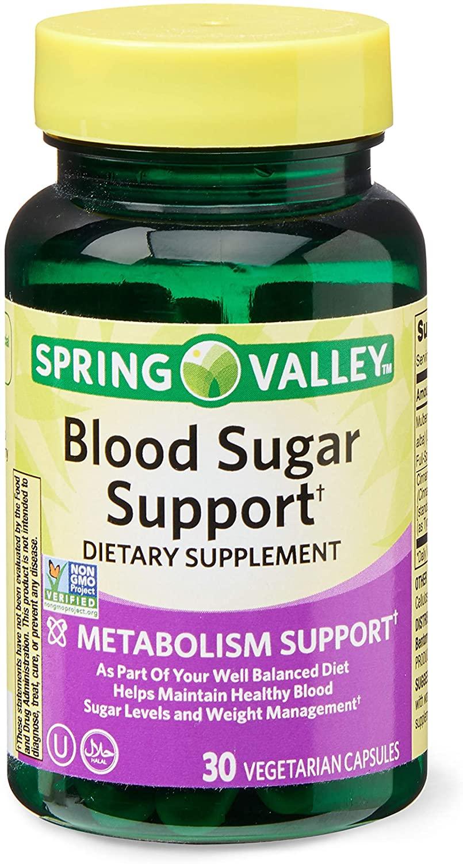 Spring Valley Blood Sugar Support, Metabolism, 30 Vegetarian Capsules