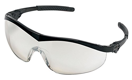 Crews ST119 Storm Spectacles, Black Frame, Indoor/Outdoor Clear Mirror Lens, Universal