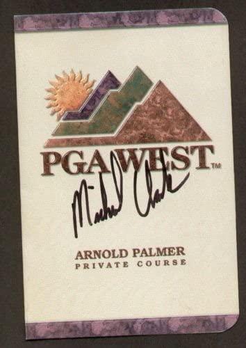 Michael Clark signed autograph auto PGA West Scorecard