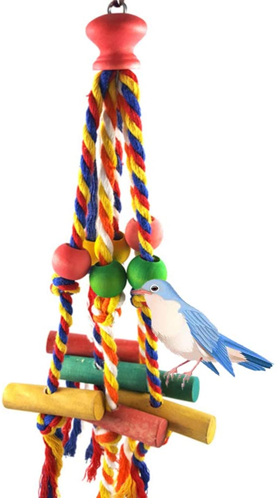 redcolourful Funny Colorful Cotton Rope Block Chew Toy for Birds Parrots Pet The Life of Pets